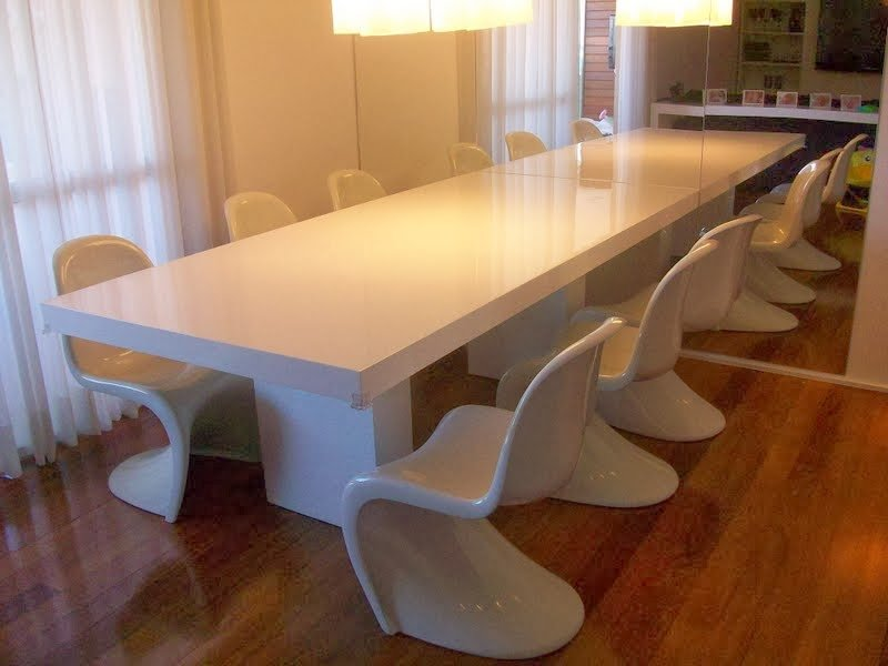 Mesa de Jantar Branca Resinada