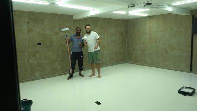 Pintura Epóxi Branco em Garagem